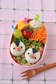 Penguins kamaboko lunch  #Bento #Lunch #Kids