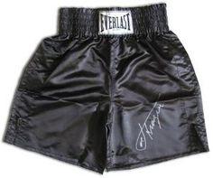 Joe Frazier signed Black Everlast Boxing Trunks- « Impulse Clothes