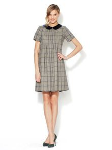 Glen Plaid Peter Pan Collar Shift by Anna Sui at Gilt