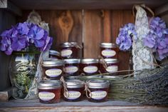 As a sweet ending, guests received favors of lavender jelly, homemade by the Bride's mother.