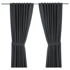 """Ikea also has them in chocolate. We could double up with sheers and chocolate for your recessed window next to the bed. RITVA Curtains with tie-backs, 1 pair - """" - IKEA. just another option"""