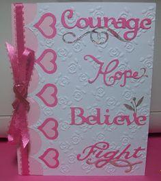 Inspired Creations: Breast Cancer Survivor Card