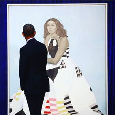 I love this picture. President Obama is a man who really loves his wife.