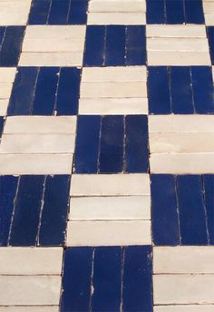 Classic tiles: blue and white