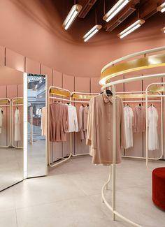 Boutique Interior, Boutique Design, Clothing Store Interior, Boutique Decor, Boutique Fashion, Showroom Design, Office Space Decor, Diner Decor, Retail Store Design