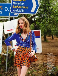 visual optimism; fashion editorials, shows, campaigns & more!: au top cet ete: gwen and alina by jolijn snijders for biba august 2013