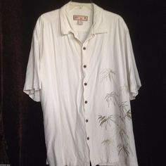 ad602b0d Caribbean Joe Hawaiian short sleeve button front men's XL Beige Floral Shirt  #CaribbeanJoe #Hawaiian