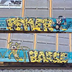 #graff #graffiti #art #artist #streetart #instagood #instadaily #instaart #nashville #tennessee #train #trainart #bench #steelgiants #benched