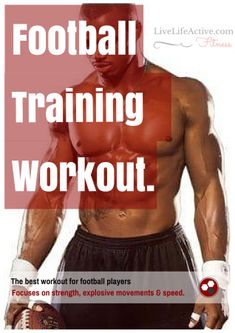 The ultimate football training workout to get you in shape for football season or to just get the NFL running back physique!