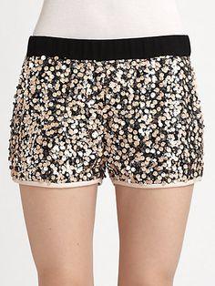 Diane von Furstenberg - Suki Sequined Shorts - Saks.com