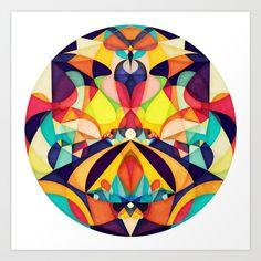 Poetry Geometry Art Print