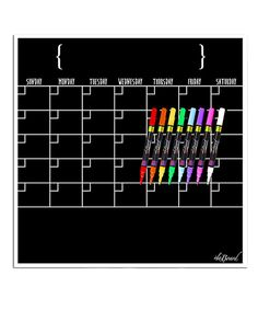 This Fluorescent Calendar Dry-Erase Board & Chalk Marker Set by a'la Board is perfect! #zulilyfinds