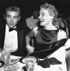 James Dean, 24, and Ursula Andress, 19, on a date. A month before his tragic death.