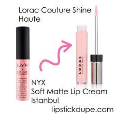 NYX Istanbul dupe Lorac Haute  www.lipstickdupe.com