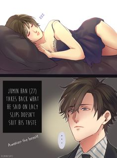 """natsucchi: """"Jumin Han probably doesn't understand a lot of things back then """""""