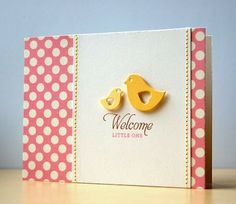 Stunning clean and simple baby card by @Cristina Kowalczyk. One of my fav baby cards of all time.