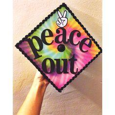 Peace out graduation cap #graduation #graduationcap #sdsu #sandiegostate