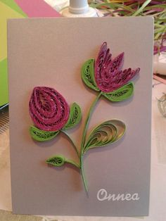 Flowers by quilling