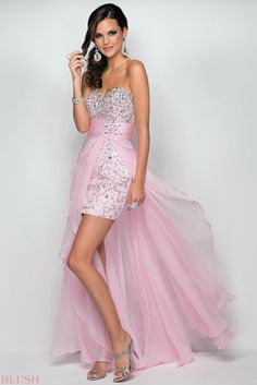 Blush Prom 9609 in Pink #prom #dress #pink #short #longback #2014 #evening #gown