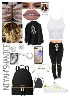 """Fake Love with Drizzy"" by adavies1115 ❤ liked on Polyvore featuring LE3NO, Lime Crime, Kenneth Jay Lane, Beats by Dr. Dre, Casetify, MICHAEL Michael Kors and adidas"