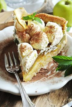 Apfel-Minze-Torte Wilde, Kraut, French Toast, Breakfast, Food, Remedies, Apple, Pies, Meal