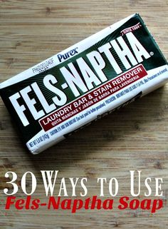 How to Use Fels Naptha at Home - Do you use Fels-Naptha in your home in every way that you can? These 30 ways to use Fels-Naptha to Save Money Around Your Home might just surprise you! They sure surprised me! #frugal #frugalliving #greenliving #savemoney #homestead #homsteading #cleaning #cleaninghacks #cleaningtips #lifehacks #DIYcleaners