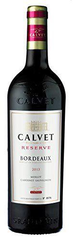 CALVET France Reserve AOC Bordeaux 2014 75 cl – Lot de 6: Vin rond, corsé avec de doux tanins. Il est très bien équilibré. Sa finale est…