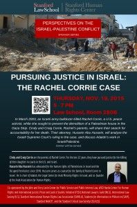 Presentations by Interfaith Peace-Builders delegates Cindy and Craig Corrie: Pursuing Justice in Israel: the Rachel Corrie Case 3