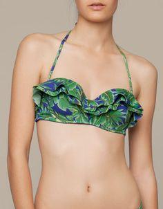 Bandeau bikini tropical - Bikinis y Bañadores - España