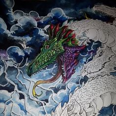 """171 Likes, 9 Comments - Magdalena Jakubiec (@maggie_coloring) on Instagram: """"My last Wip from #mythomorphia  #instacoloring #coloring_masterpiece #coloring_secrets…"""""""