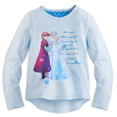 Anna and Elsa Long Sleeve Tee for Girls | Disney Store