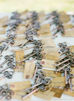 Skeleton Key Bottle Opener Wedding Favor with by TreesofLace
