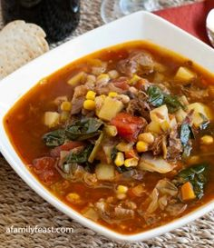 Hearty Beef Vegetable Soup - A Family Feast