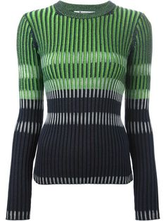Shop T By Alexander Wang striped fitted sweater  in Bernard from the world's best independent boutiques at farfetch.com. Over 1500 brands from 300 boutiques in one website.