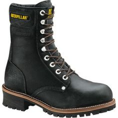 Sales Caterpillar Mens Logger 9-Inch Steel Toe Work Boots Black 13 online - A classic logging work boot with Cat attitude this steel toe boot features a 90...