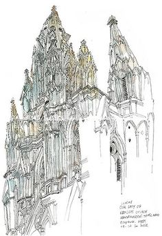 Our Lady of Ransom Church, Kanyakumari 3~4 hours sketch on location | Flickr - Photo Sharing!