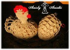 Anioły Anielki: Kurka i osłonka na jajko - wzór, schemat