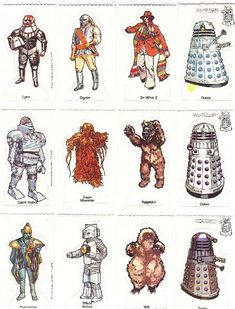 Weetabix 1975 Tom Baker as Dr Who & his Enemies including Cyberman Dalek, Ice Warrior and Lynx