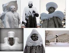 Ленин в моде при любой погоде.