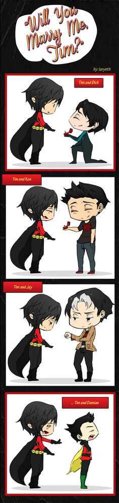 Will You Marry Me, Tim? by larynth.deviantart.com on @deviantART