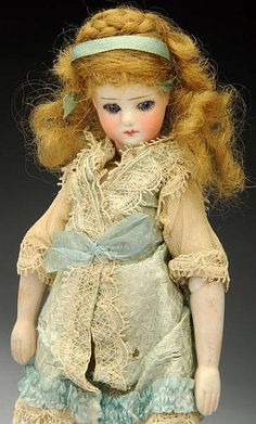 Rare French Bisque Mignonette Doll. - by Morphy Auctions