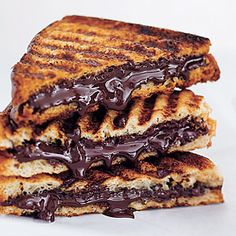 Chocolate Panini...and you could make the bread cinnamon toast