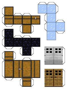 Barking Dog Interactive: Minecraft Papercraft - Mine Minecraft World Minecraft Crafts, Minecraft Templates, Art Minecraft, Minecraft Printable, Minecraft Skins, Minecraft Buildings, Minecraft Pumpkin, Easy Minecraft Houses, Hama Beads Minecraft
