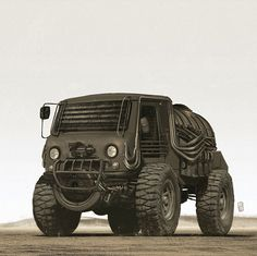 Mad Max Road of Fury on Behance Mad Max Road, Apocalypse, Expedition Vehicle, Jeep 4x4, Car Sketch, 4x4 Trucks, Cool Bikes, Car Pictures, Motor Car