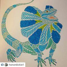 Azul e verde! #Repost @honordickie1