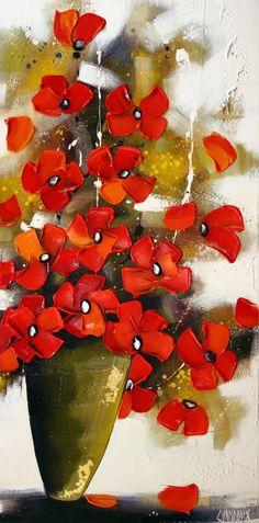 Chanter lamour(48×24) Symbols, Artist, Artwork, Painting, Color, Toile, Love, Flowers, Work Of Art
