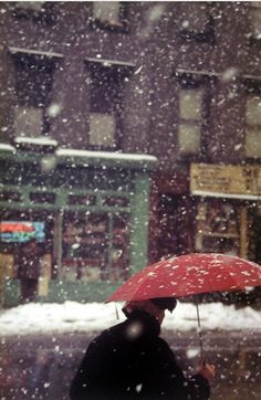 First snow of the season today in NYC!