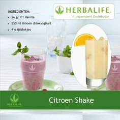 #Herbalife Citroen shake recept