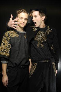 Dolce & Gabbana - Foto Backstage Sfilata Uomo - Autunno Inverno 2013
