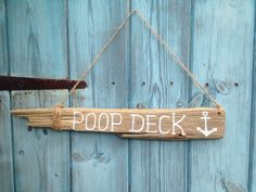 Nautical Driftwood Poop Deck Hanging Sign